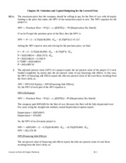 class notes Chapter 18- Valuation and Capital Budgeting for the Levered Firm