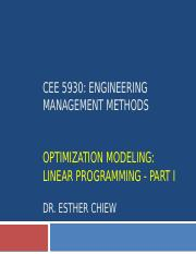 CEE 5930 -- Linear Programming Part 1 - Fall 2017 (1).pptx
