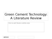 Green Cement Technology2