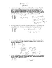 exam 3 PHYS 122 Fall 2007 solutions