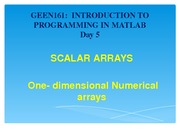 Scalar Arrays Lecture Material