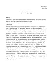 Determination of the Dissociation Constant of a Weak Acid (8)