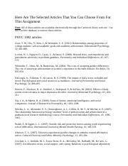 List of Articles for Alternative Research Assignment.docx