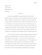 First Essay (May 23)