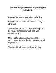 The sociological social psychological paradigm (1).doc