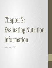 Chapter 2- Evaluating Nutrition Information.pptx