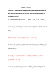 Stoich Equations Chem Practice