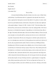 jenny a character analysis essay Working on an essay assignment about nick, daisy, or another character check out our guide to the great gatsby character analysis to get helpful tips.
