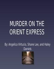 MURDER ON THE ORIENT EXPRESS PRESENTATION