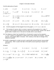 Chapter 3 Derivative Review