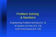 Lect 5 problem solving and numbers