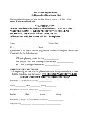 Fee waiver request form 2016-2017