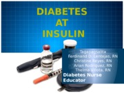 Diabetes and Insulin