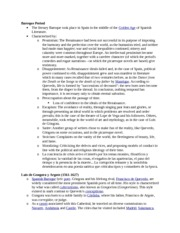 Spanish 4060 Exam 2 Study Guide and Reading Summaries