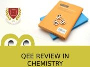 QEE REVIEW IN CHEMISTRY