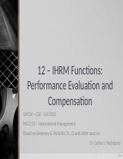 S&M 12 - IHRM-Performance Evaluation and Compensation (1).pptx