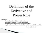 Presentation: Definition of the Derivative and Power Rule