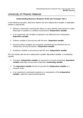 RES-351 Understanding Business Research Terms and Concepts Part 1- Wk 3