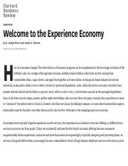 WK1_Ref 2_Welcome to the Experience Economy