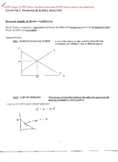 Econ 3070 Chapter 2 Notes