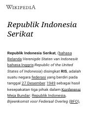 Republik Indonesia Serikat - Wikipedia bahasa Indonesia, ensiklopedia bebas.pdf
