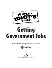The Complete Idiots Guide to Getting Government Jobs