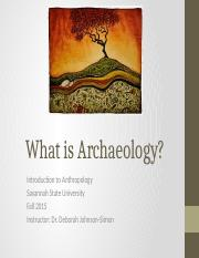 What is Archaeology