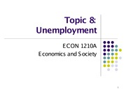 Topic 8. Unemployment