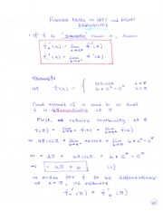 MATH 1080 Left and Right Derivatives Notes