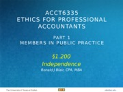 AICPA CPC Sec 1.200 Independence