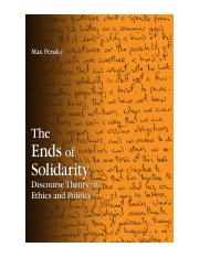 (Suny Series in Contemporary Continental Philosophy) Max Pensky-The Ends of Solidarity_ Discourse Th