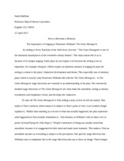 The Glass Menagerie- ENG-152