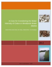 A Case for Considering the Water Intensity of Cotton in Westlands Water District_Heyer
