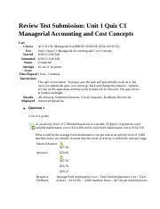 Unit 1 Quiz C1 Managerial Accounting and Cost Concepts.docx