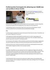 Online PR Case Study - Firefly launches Yummypets UK 2