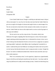 Gender Studies Essay