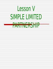 L-5-Simple Limited Partnership.ppt