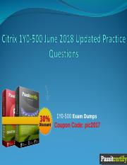 Citrix 1Y0-500 June 2018 Updated Practice Questions.ppt