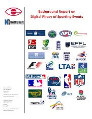 Digital Piracy of Sporting Events.doc