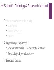 Scientific Thinking and Research Methods Student 2(1)