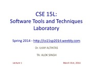 CSE15LSpring2014Lecture131stMarch2014