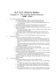 APUS history notes chpt6 The Duel for North America