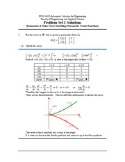 ENGI 4430 Problem Set 1 Solutions