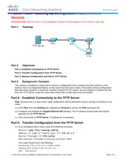 11.4.2.5 Packet Tracer - Backing Up Configuration Files Instructions IG