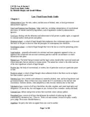 Law Final Study Guide, by Michelle M. & Gerald W. - 97-2003 version