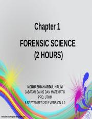 Chapter 1 Forensic Science