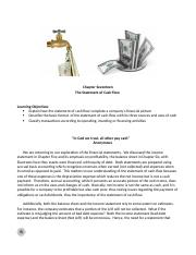 Chapter 17 Lecture Notes -  Statement of Cash Flow