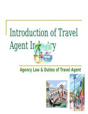 3. Introduction of Travel Agent Industry.ppt