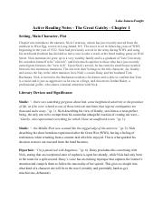 Active Reading Notes - Great Gatsby - Chapter 1 (1).pdf