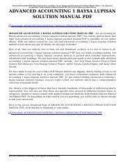 advanced accounting 1 dayag solution manual pdf advanced rh coursehero com